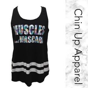 """Tops - Muscles and Mascara"""" racer back size XL"""
